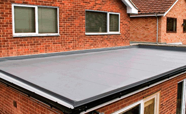 For Low Slope U0026 Flat Roofs Budget Roofing Uses TPO And PVC Heat Welded,  Waterproof Membrane Roof Systems.